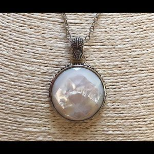 NEW BARSE Pearl Pendant Chain Necklace Sterling